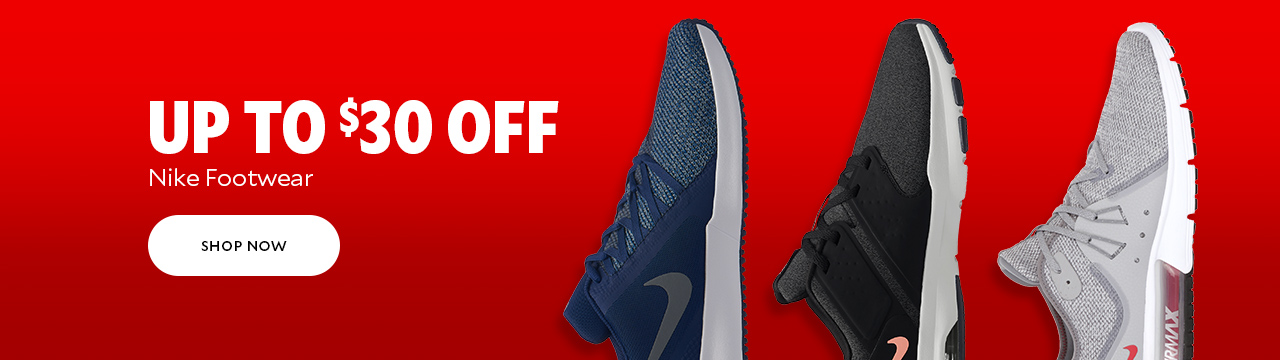 Up to $30 Off Nike Footwear