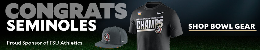 Congrats Seminoles. Shop Bowl Gear.