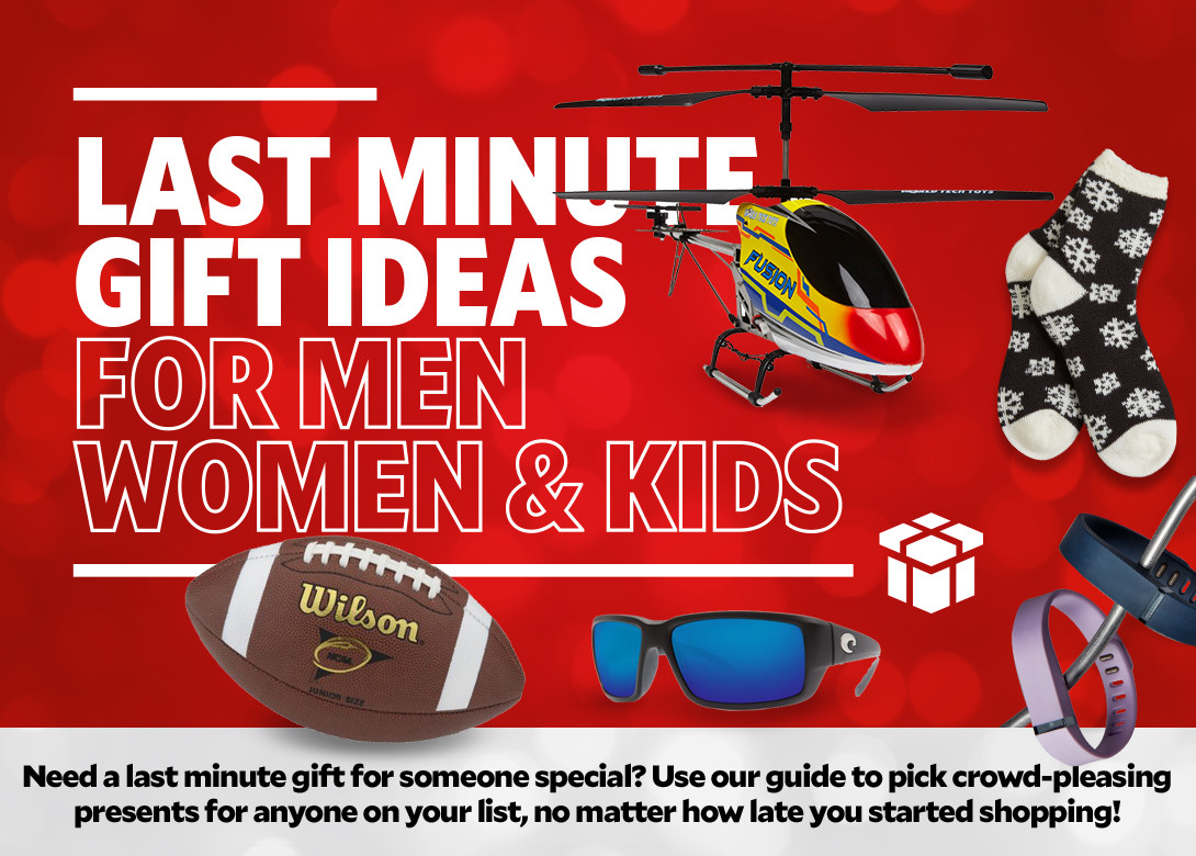 last minute gift ideas for men, women and kids