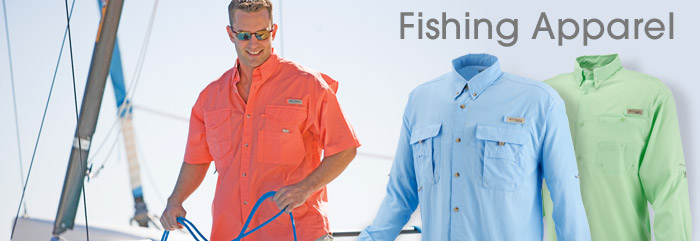Fishing Shirts, Hats, Pants, Apparel