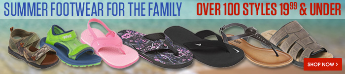Summer footwear for the family