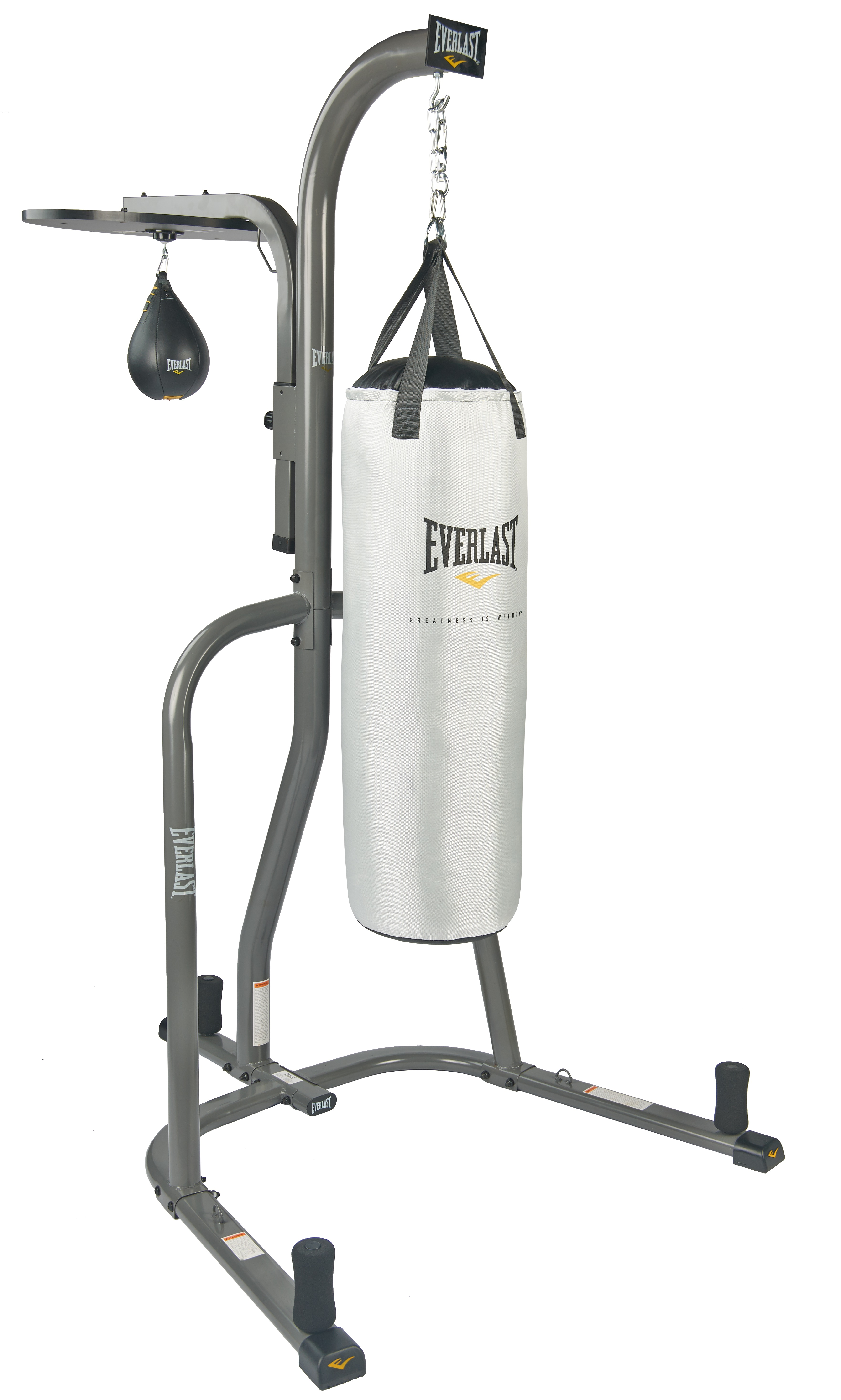 Everlast Dual Station Stand with Speed and 70 lb. Heavy Bag