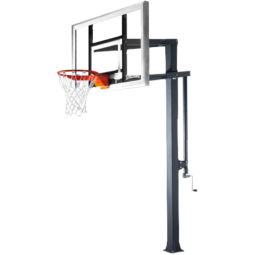 60-in Spalding Arena Series Glass In-Ground Basketball Hoop