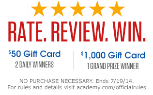 Rate. Review. Win. Sweepstakes!